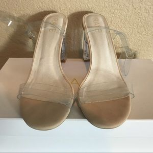 0d09da2a7d0 RAYE Shoes - Raye X Revolve Alta Lucite Heel in Clear   Nude